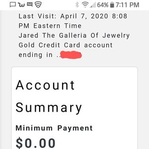 Jared Jewelry Gold Card